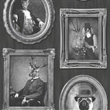 Vliesové tapety na stenu Replik Animal Portraits šedo-čierne