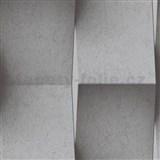 Vliesové tapety na stenu Replik betónové 3D panely sivé