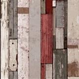 Vliesové tapety na stenu Virtual Vision drevené laty hnedo-červené