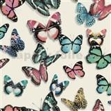 Vliesové tapety na stenu Virtual Vision motýle farební