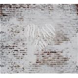 Luxusné vliesové fototapety tehlová stena rozmer 300 cm x 270 cm