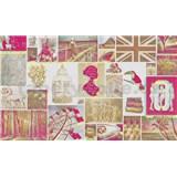 Luxusné vliesové fototapety Pink Love 450 x 270cm