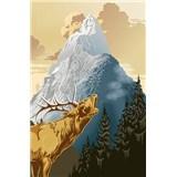 Fototapety King of the Mountain, rozmer 115 x 175 cm