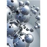 Fototapety 3D Silver Orbs