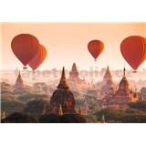 Vliesové fototapety balóny Ballons Over Bagan, rozmer 366 x 254 cm