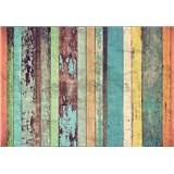 Vliesové fototapety drevené dosky Colored Wooden Wall, rozmer 366 cm x 254 cm