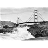 Vliesové fototapety Golden Gate Bridge, rozmer 366 cm x 254 cm