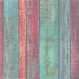 Vliesové tapety IMPOL Wood and Stone 2 dosky červeno-zeleno-modré