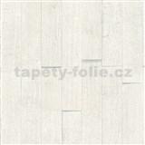 Vliesové tapety IMPOL Wood and Stone 2 3D drevený obklad biely