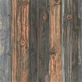 Vliesové tapety IMPOL Wood and Stone 2 drevené dosky s hrčami hnedé