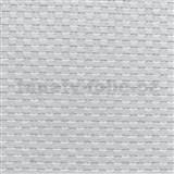Vliesové tapety na stenu XXL vzor lýko biele MEGA ROLL návin 15m