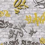 Tapety na stenu Young Spirit - Graffiti žlté