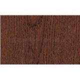 Samolepiace tapety dubové drevo červenkasté - renovácia dverí - 90 cm x 210 cm