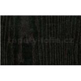 Samolepiace tapety čierne drevo - renovácia dverí - 90 cm x 210 cm