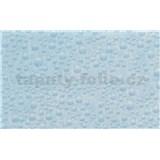 Samolepiace tapety - transparentné modré kvapky vody - 45 cm x 15 m