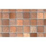Samolepiace tapety - malé kachličky - toskánska hnedá 45 x 15 m