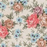 Samolepiace tapety so vzorom kvetov Romantic 45 cm x 15 m
