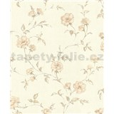 Vliesové tapety na stenu Allure kvety ruží béžové s leskom