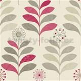 Papierové tapety na stenu Options kvety fialové