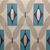 Papierové tapety na stenu Options Quartz modré