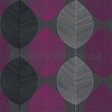 Papierové tapety na stenu Options listy fialové