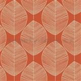 Papierové tapety na stenu Options listy oranžové