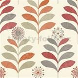 Papierové tapety na stenu Options kvety oranžové