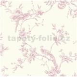 Papierové tapety na stenu Options kvety s pávom ružové