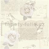 Papierové tapety na stenu Options ruže krémové