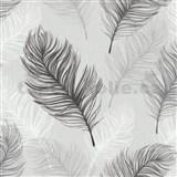 Papierové tapety na stenu Options perie sivé