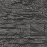 Vliesové tapety na stenu Wood'n Stone kameň čierny