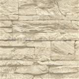 Vliesové tapety na stenu Wood'n Stone kameň béžový