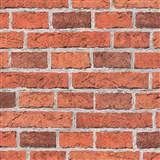 Papierové tapety na stenu Wood'n Stone tehla červená