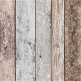 Vliesové tapety na stenu staré drevo modro-hnedé