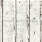 Vliesové tapety na stenu Wood'n Stone dosky drevené biele