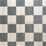Papierové tapety na stenu štvorčeky krémové a sivé