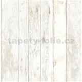 Vliesové tapety na stenu Exposed drevené dosky s bielou patinou
