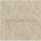 Vliesové tapety na stenu Avalon geometrický vzor tmavo hnedý