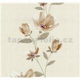 Vliesové tapety na stenu Blues kvetmi svetle okrové