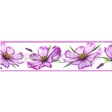 Samolepiace bordúry kvety fialové 5 m x 8,3 cm