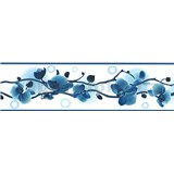 Samolepiace bordúra orchidea modrá 5 m x 8,3 cm