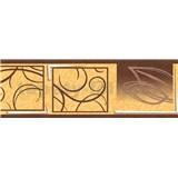 Samolepiaca bordúra natural hnedá 5 m x 6,9 cm