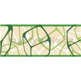 Samolepiace bordúry štvorčeky zelené 5 m x 6,9 cm