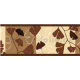Samolepiace bordúry ginkgo listy tmavo hnedé 5 m x 6,9 cm