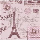 Papierové tapety na stenu Boys & Girls pohľadnice ružové