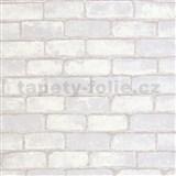 Vliesové tapety na stenu Bread & Butter tehla sivá