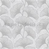 Vliesové tapety IMPOL Carat 2 listy ginkgo sivé na krémovom podklade