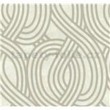 Vliesové tapety na stenu Carat moderný vzor strieborný na svetlo hnedom podklade