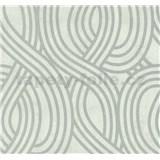 Vliesové tapety na stenu Carat moderný vzor strieborný na bielom podklade