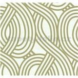 Vliesové tapety na stenu Carat moderný vzor svetle zlatý na bielom podklade